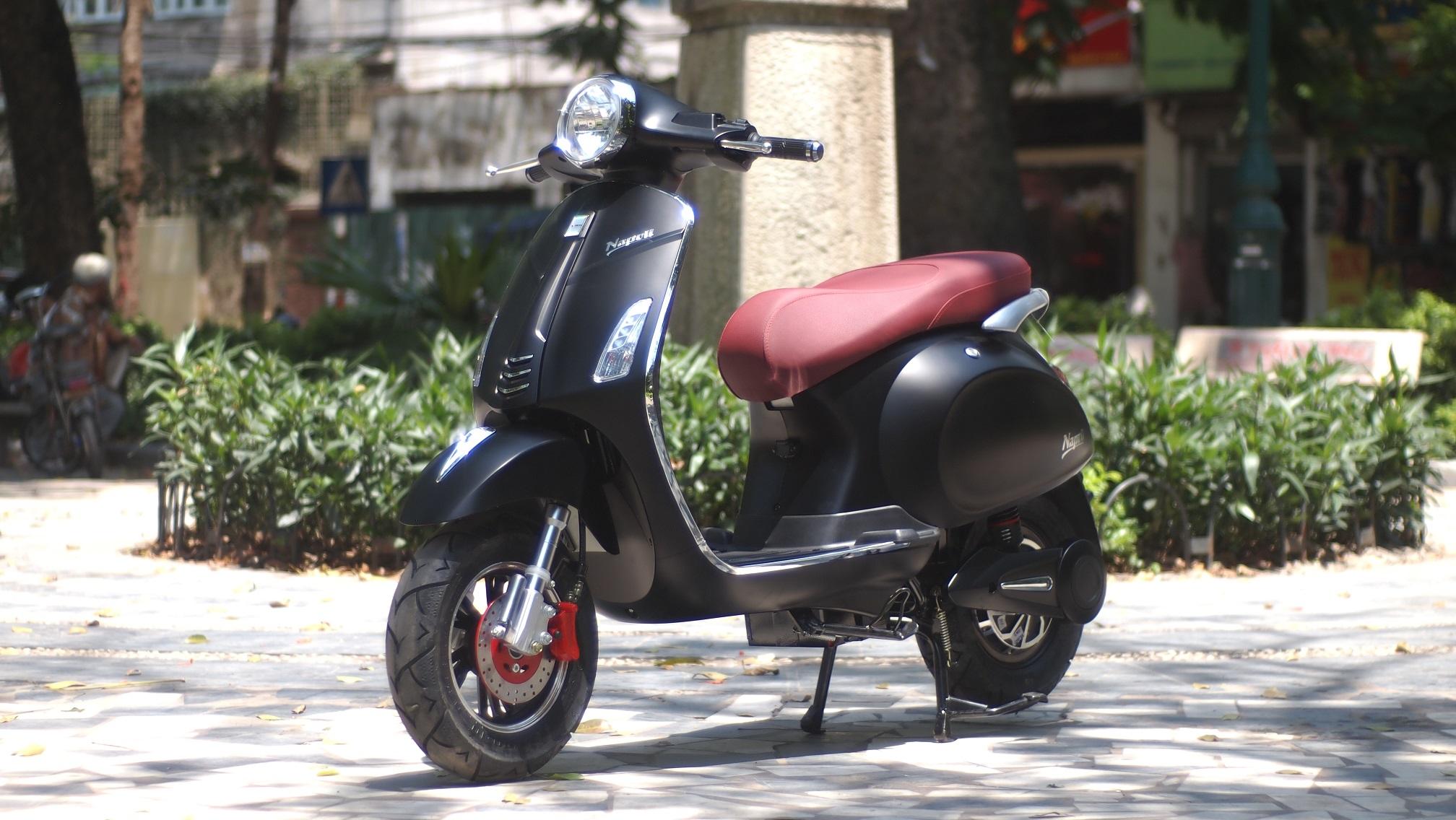 Xe máy điện Napoli S được lấy cảm hứng thiết kế từ loài chim thiên nga
