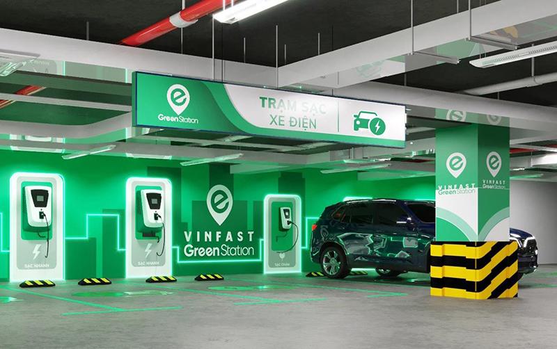 Hệ thống sinh thái trạm sạc xe điện Vinfast đang được xây dựng rộng rãi trên toàn quốc