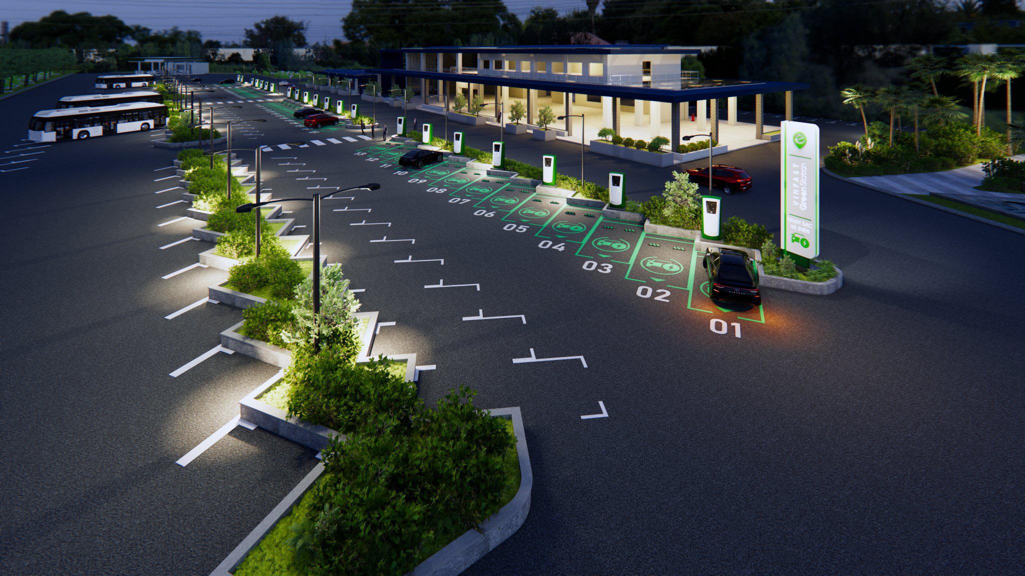 Bãi đỗ xe điện VinFast