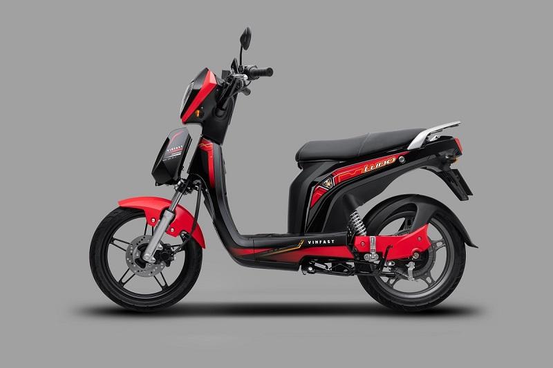 Xe máy điện Ludo màu đỏ khỏe khoắn, năng động