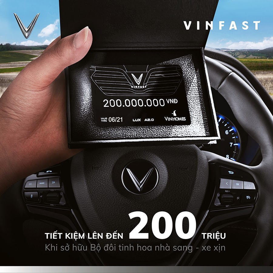 voucher Vinhomes 200 trieu ap dung voi xe lux A2.0