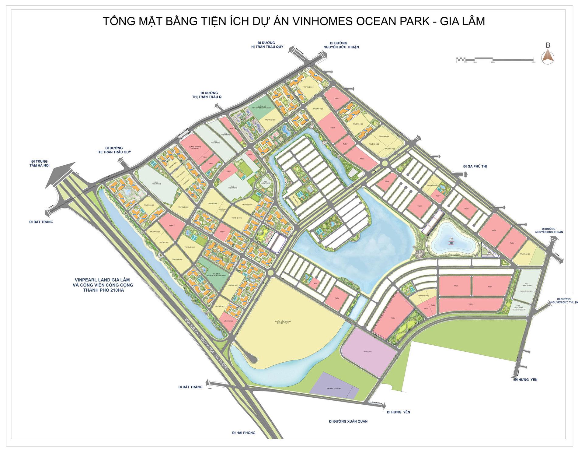hinh anh tong quan vi tri vinhomes ocean park - thanh pho bien ho trong long Ha Noi so 1