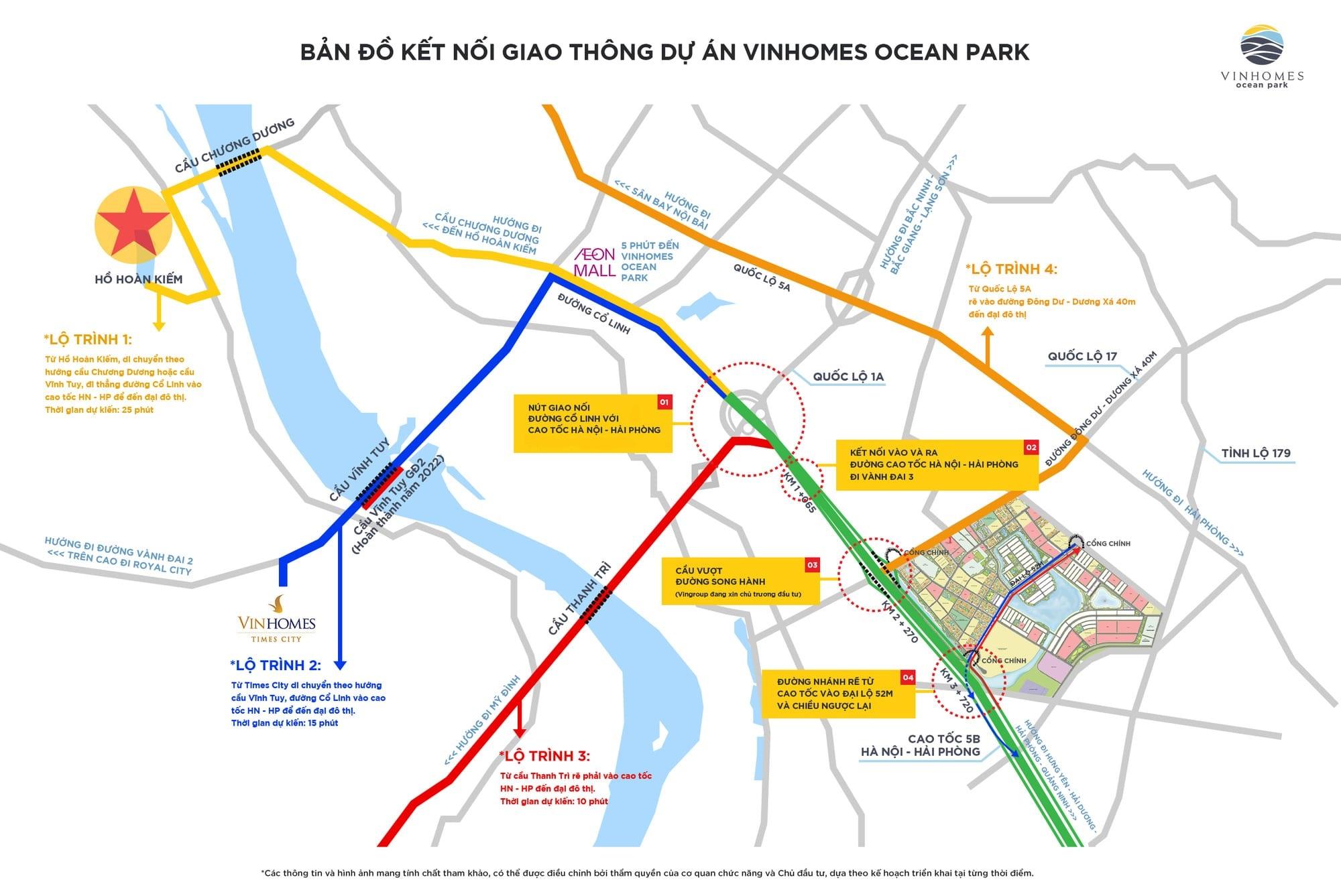 hinh anh tong quan vi tri vinhomes ocean park - thanh pho bien ho trong long Ha Noi so 2