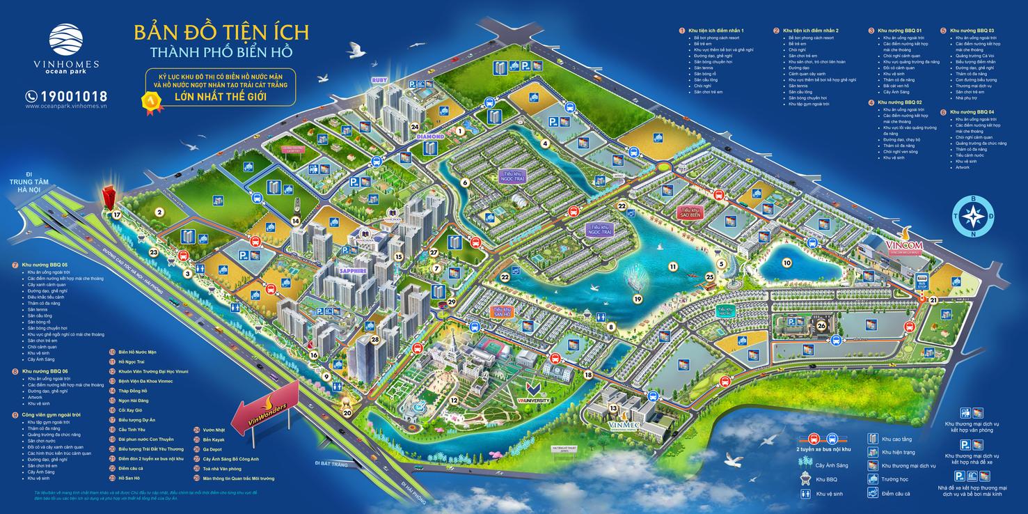 hinh anh tong quan vi tri vinhomes ocean park - thanh pho bien ho trong long Ha Noi so 3