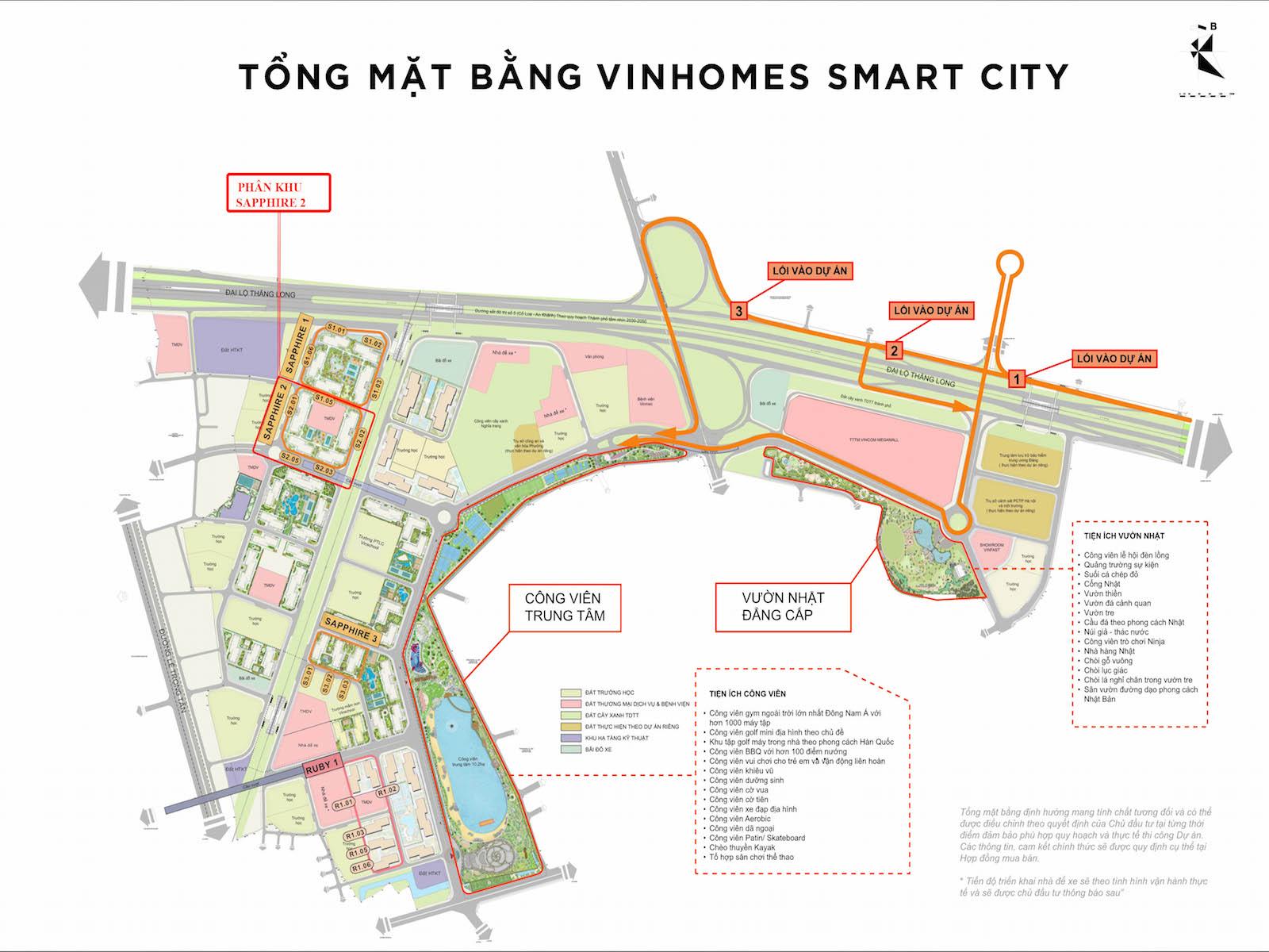 hinh anh vi tri Sapphire 2 Vinhomes Smart City so 1