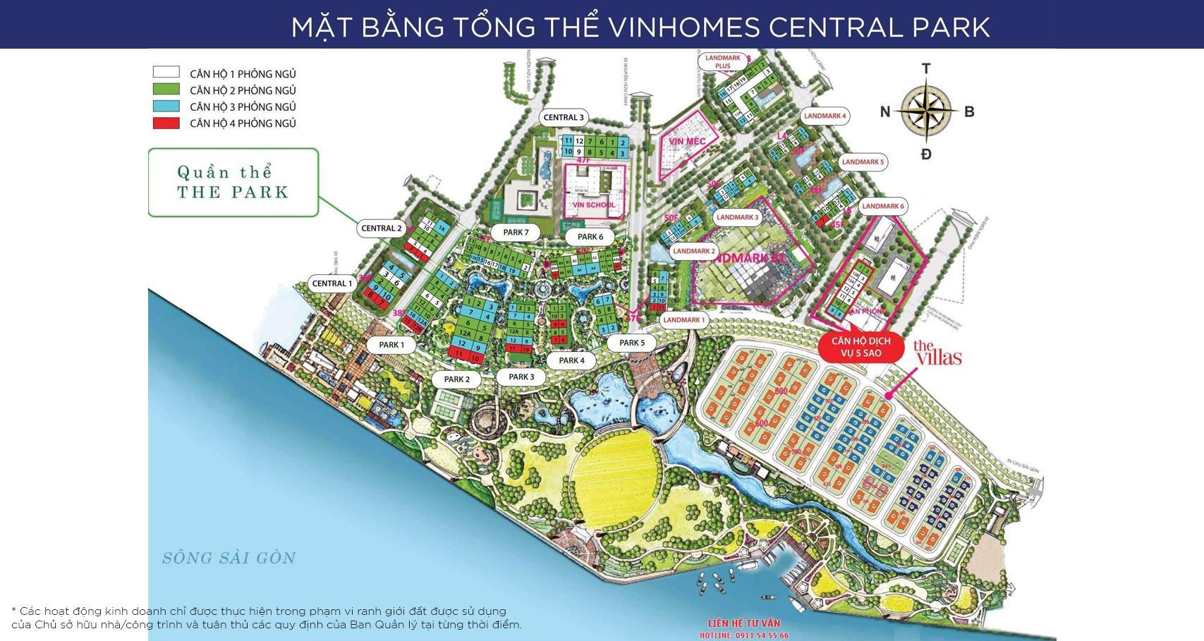 Hinh anh mat bang Vinhomes Central Park