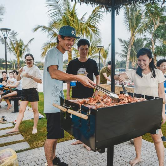 Hinh anh nuong BBQ Vinhomes Smart City
