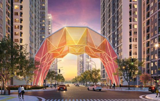 Hinh anh cong chao bieu tuong Origami Vinhomes Grand Park