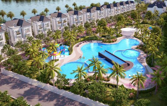 Hinh anh cong vien thien duong Tropical Malibu Vinhomes Grand Park