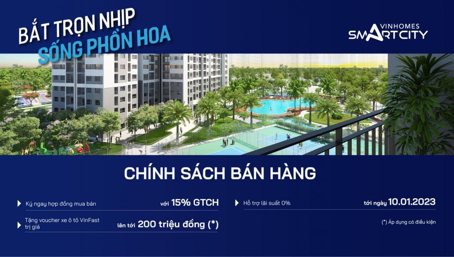 Chính sách bán hàng Vinhomes Smart City Sapphire 3