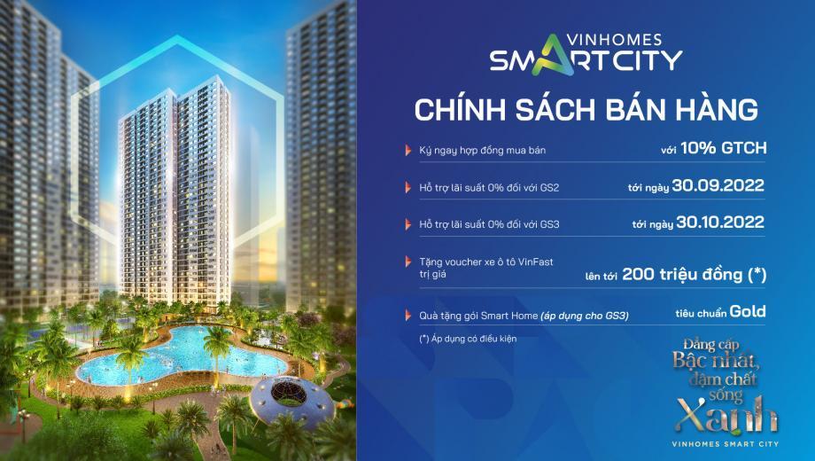 Chính sách bán hàng Vinhomes Smart City 03/2021