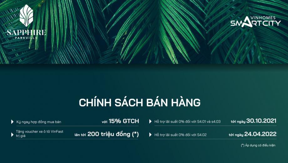 Hinh anh chinh sach ban hang du an Vinhomes Smart City Sapphire 4