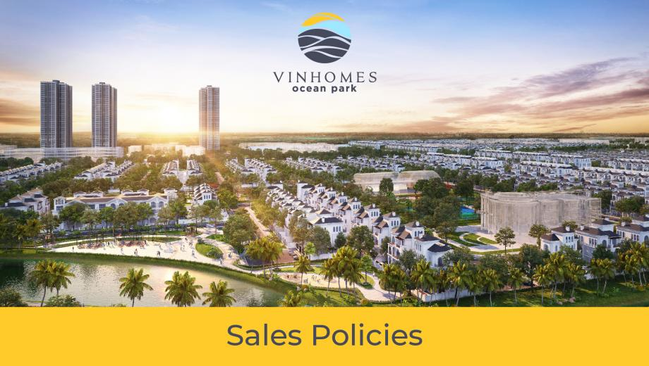 Sales policy of The Zen Park