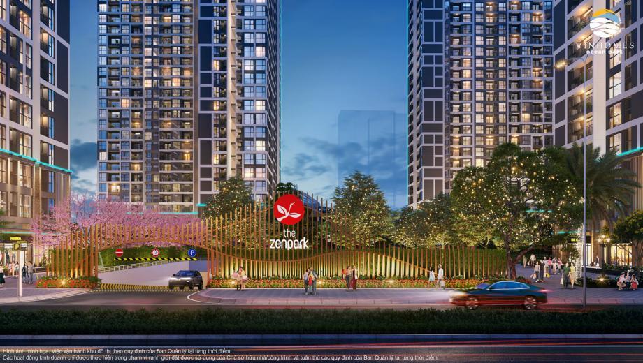 Chính sách bán hàng Phân khu The Zenpark tháng 10/2021