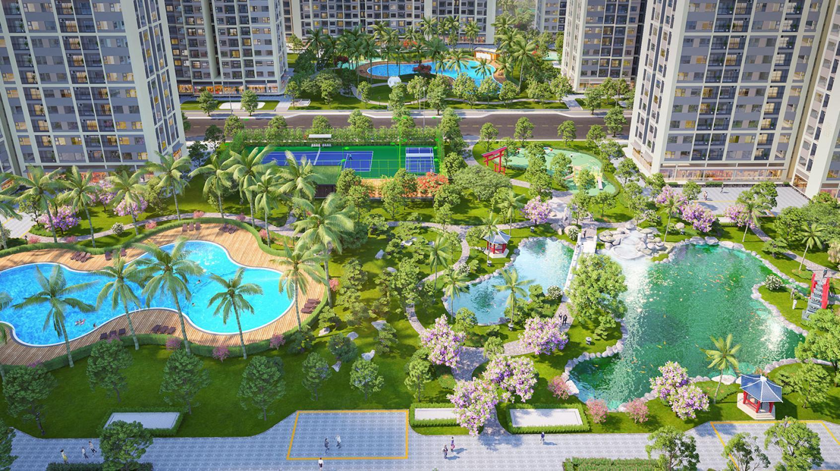 Hinh anh cong vien Resort du an Vinhomes Grand Park
