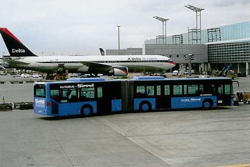 Buss, Frankfurts flygplats