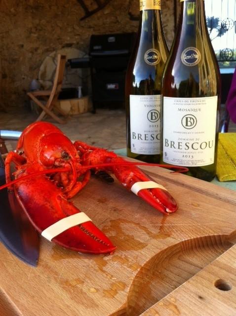 Domaine de Brescou lobster