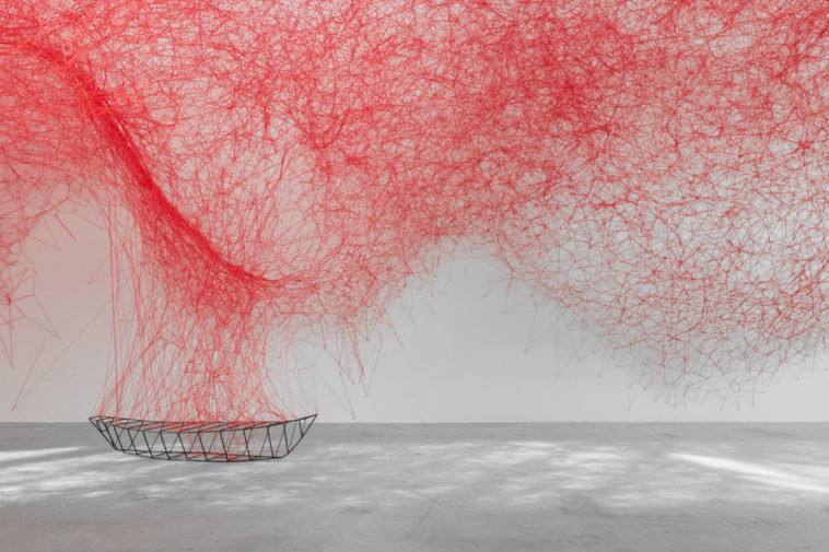 An 'Uncertain Journey' By Chiharu Shiota