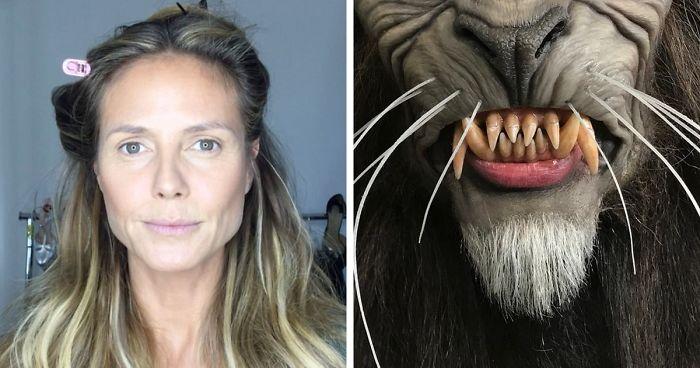 "Heidi Klum as The Werewolf From Michael Jackson's Music Video ""Thriller"""