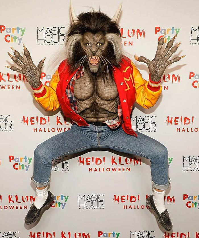 "Heidi Klum as The Werewolf From Michael Jackson's Music Video ""Thriller"" (2017)"