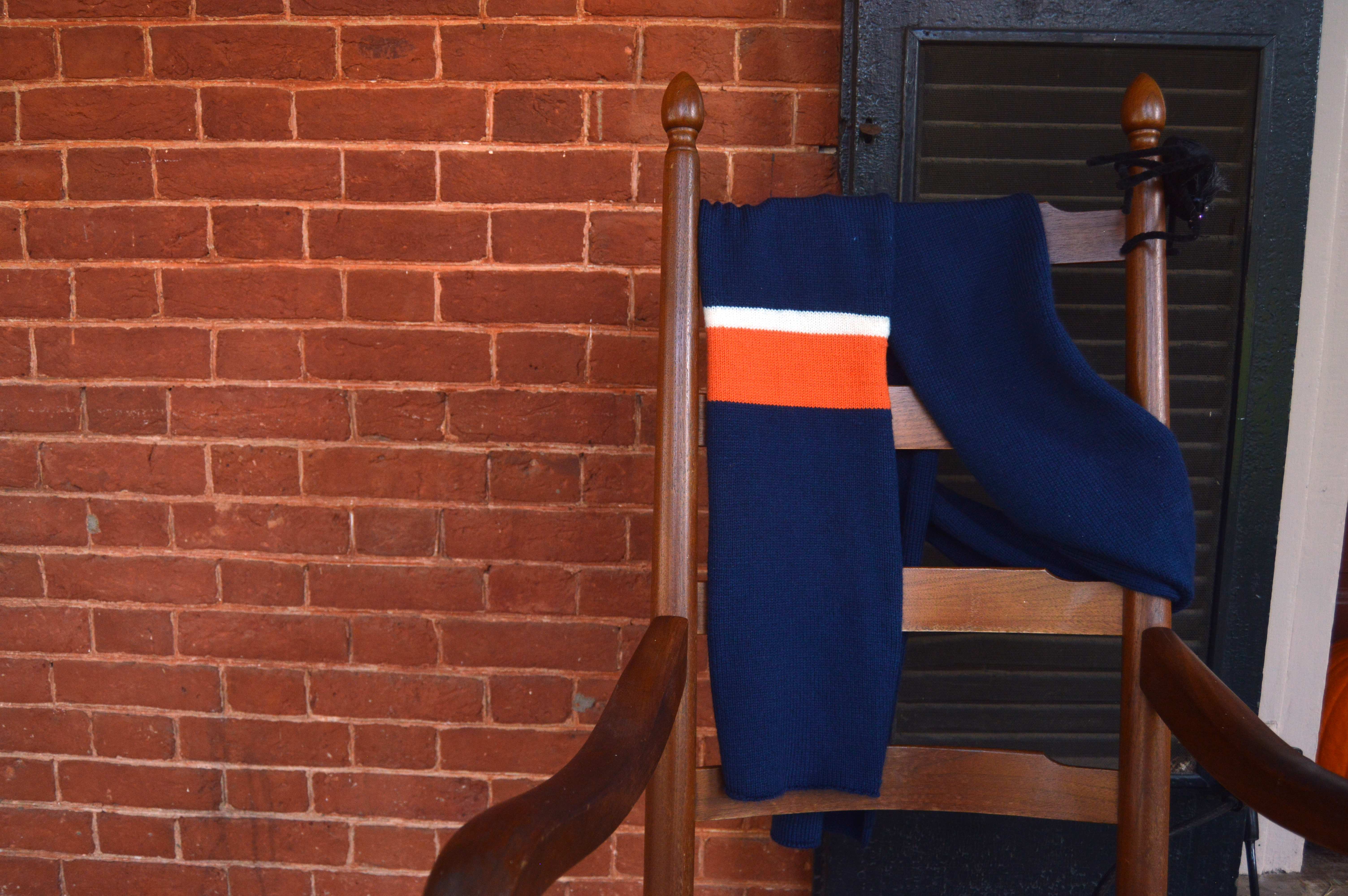 Classic scarf on rocking chair