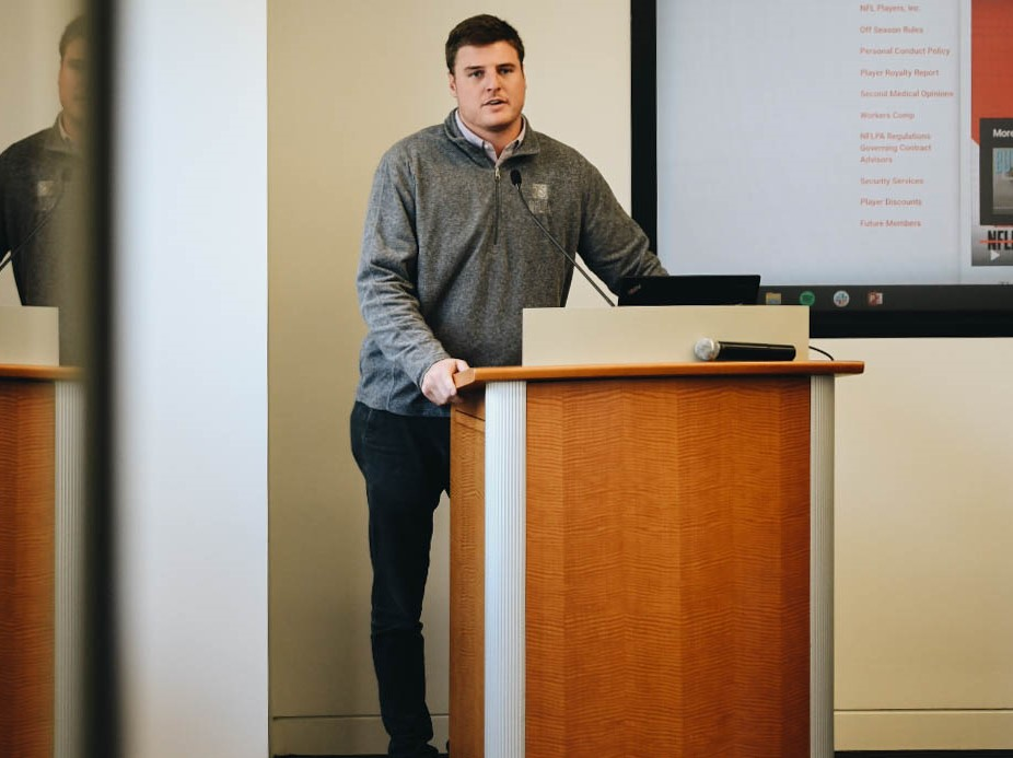 Jake McGee with NFLPA
