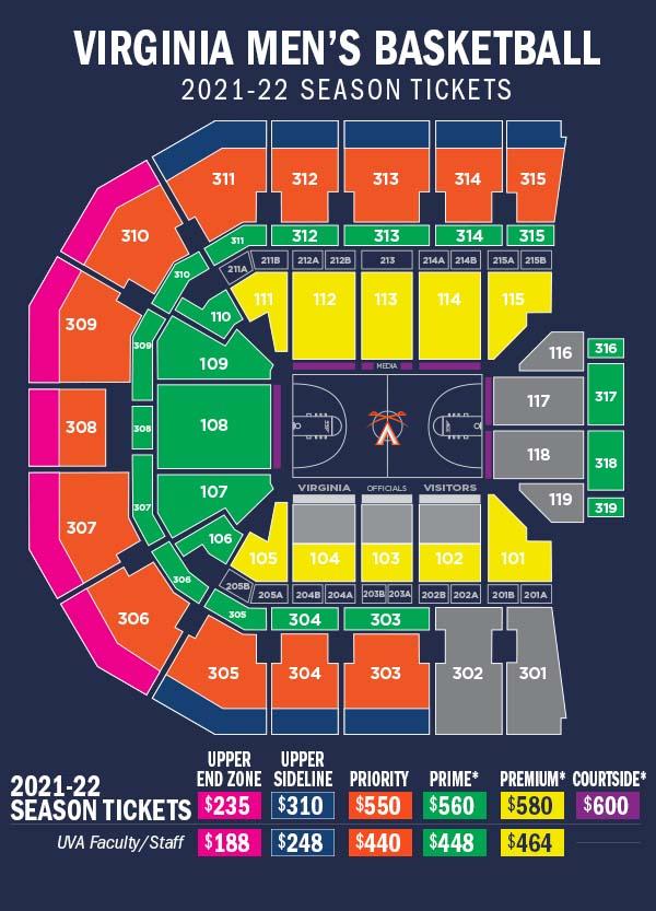 2021-22 Men's Basketball - JPJ Seating Diagram
