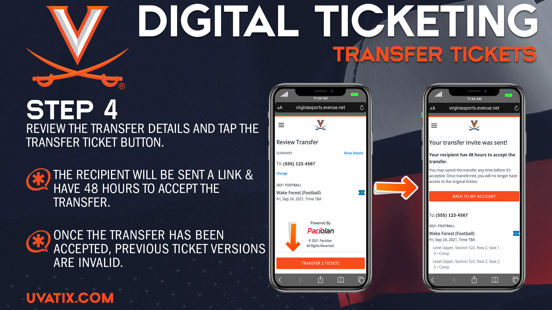 Transfer instructions - 2