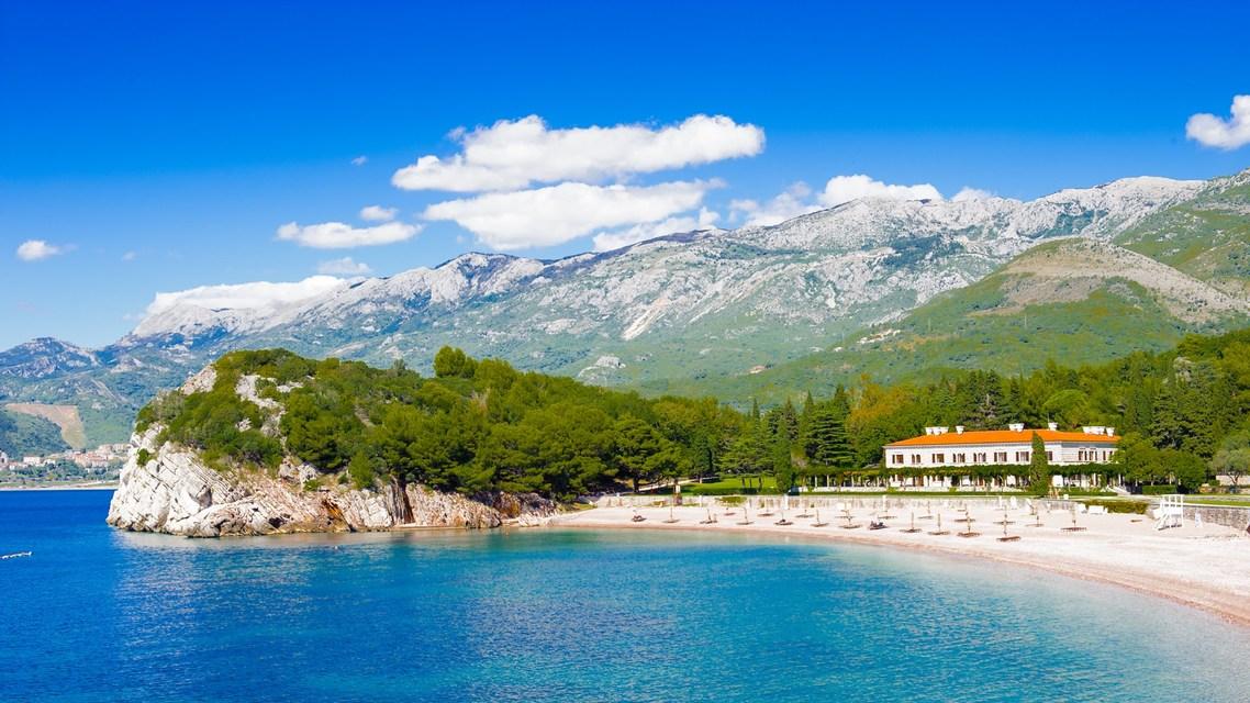 Plaža Miločer, Budva, Sveti Stefan