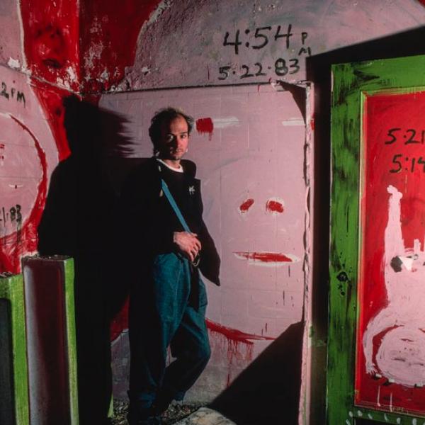 Installation at Pier34 with artist, Huck Snyder