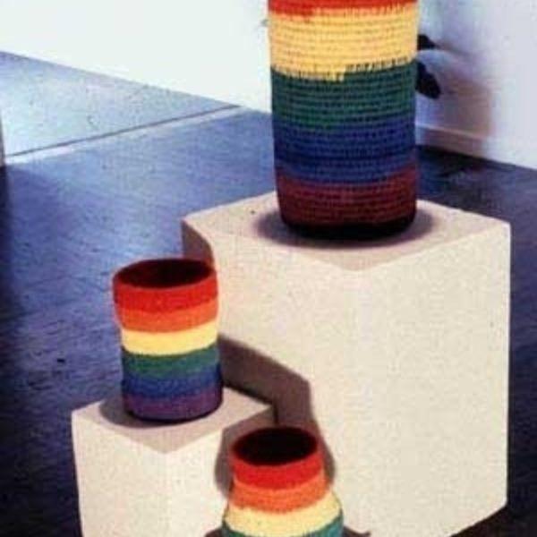 Three Rainbow Spirit Baskets