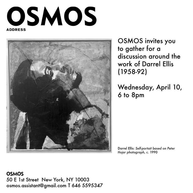 Darrel Ellis: Self-portrait based on Peter Hujar photograph, c.1990