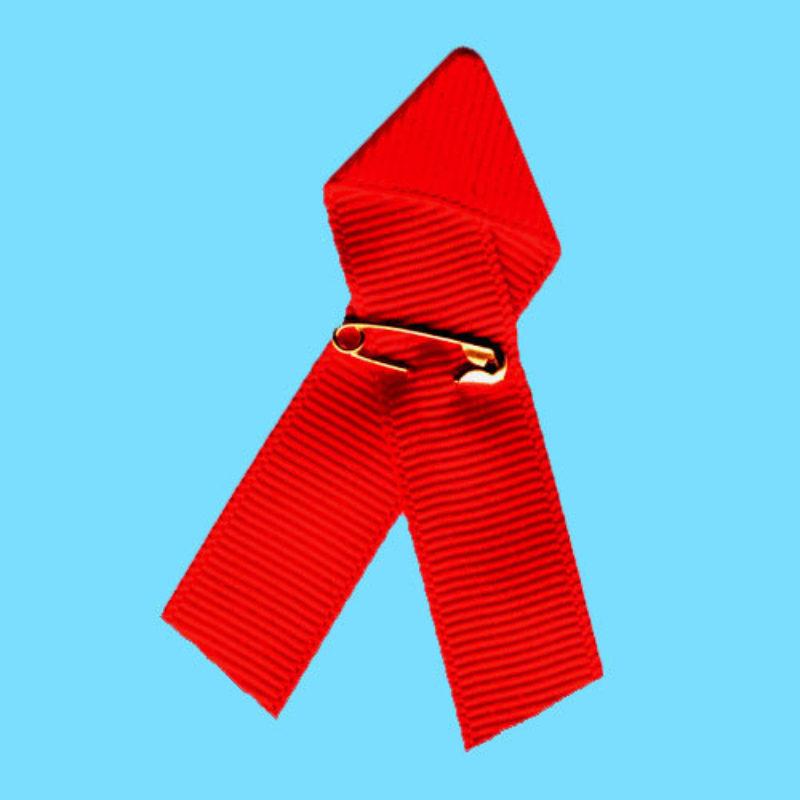 Red Ribbon Pin