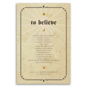 To believe cover