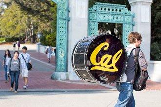 international students walking on campus of Berkeley