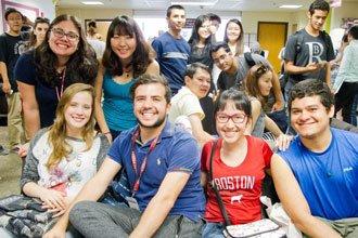 Students from the English Language Program of BU in Boston Massachusetts