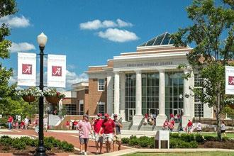 Cursos de inglés de la Universidad de Alabama en el campus principal