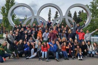 clase de inglés de la Universidad de British Columbia en Vancouver, Canadá
