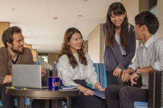 Students of the business administration certificate program of UCI