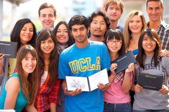 Studenten aus dem Englischkurs an der UCLA