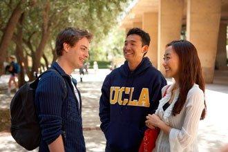 UCLA Undergraduate international students on campus