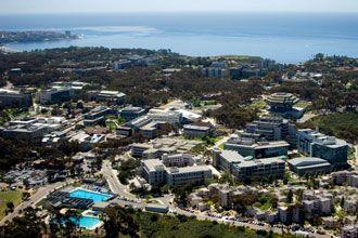 vista aerea del campus de la Universidad de California San Diego