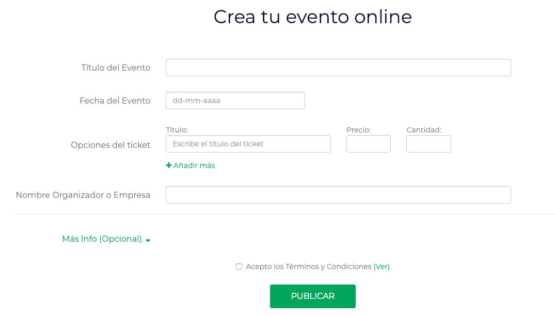 crear un evento online de forma sencilla