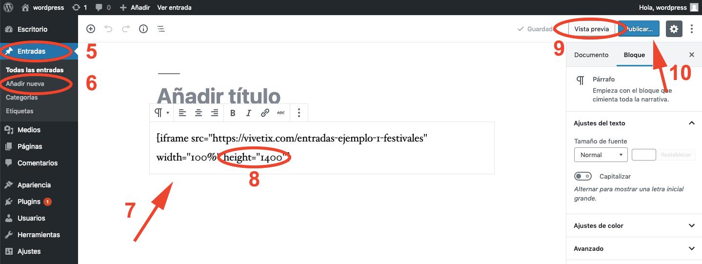 añadir plugin a página