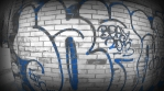 Bright Blue BW Graffiti