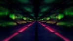 Neon aurora infinite horizon zoom abstract art animation