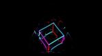 Liquid Neon Cube 4K Vj Loop 04