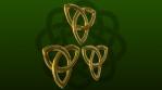 St Patrick's Day - 3D Trinity knots - Seamless