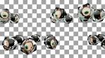 Glass diamond eyes