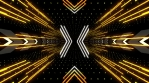 X Shaped Neon Lights Tunnel Loop